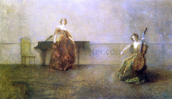 Thomas Wilmer Dewing The Song and the Cello - Canvas Art Print