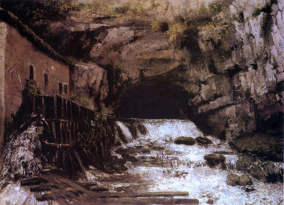 Gustave Courbet The Source of the Loue - Canvas Art Print