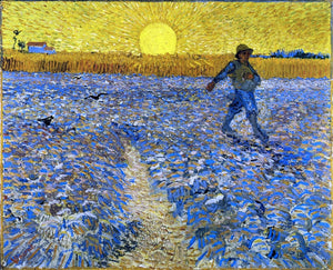 Vincent Van Gogh The Sower (also known as Sower with Setting Sun) - Canvas Art Print