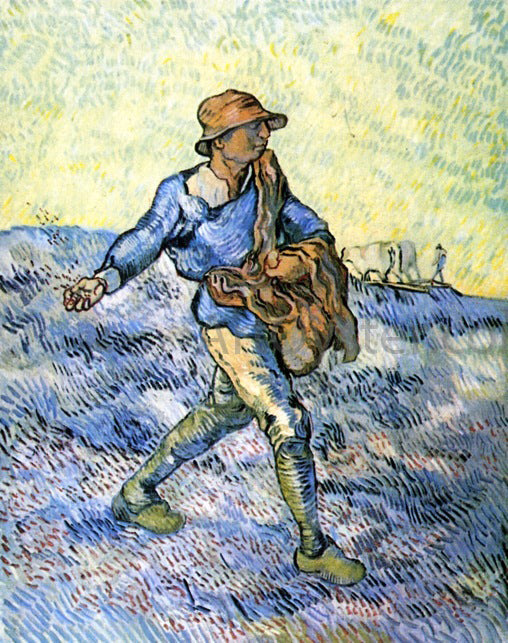 Vincent Van Gogh The Sower (after Millet) - Canvas Art Print