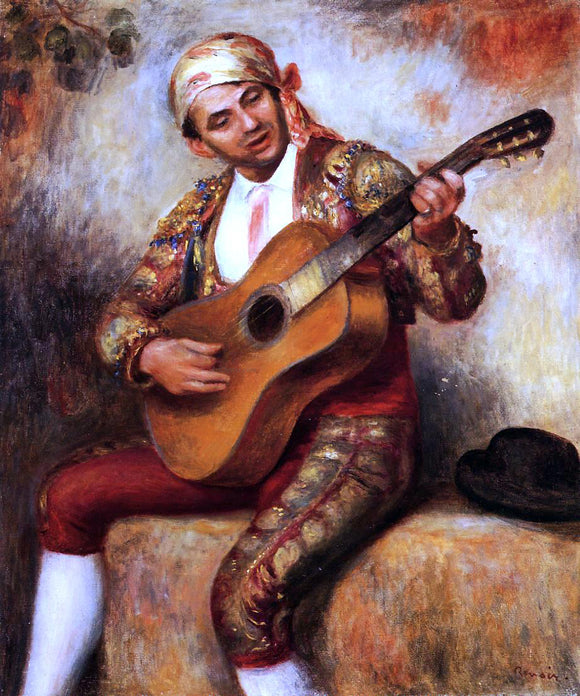 Pierre Auguste Renoir The Spanish Guitarist - Canvas Art Print