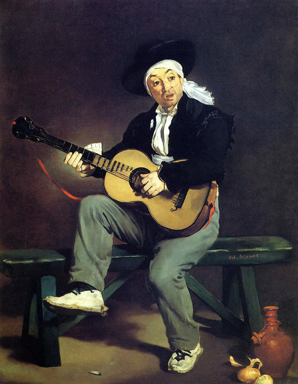 Edouard Manet The Spanish Singer (also known as Guitarrero) - Canvas Art Print