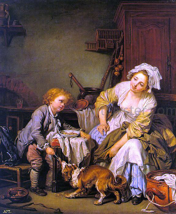 Jean Baptiste Greuze The Spoiled Child - Canvas Art Print