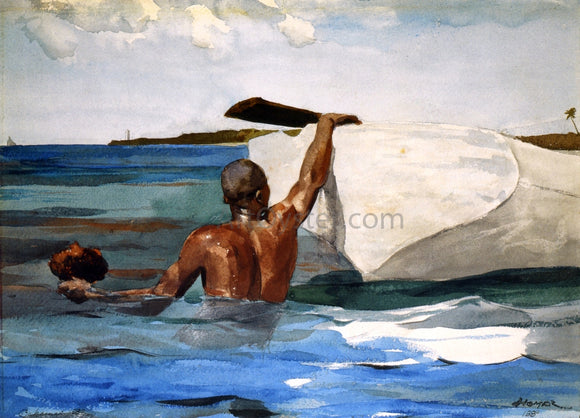 Winslow Homer The Spong Diver - Canvas Art Print