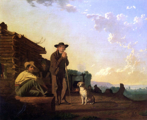 George Caleb Bingham The Squatters - Canvas Art Print