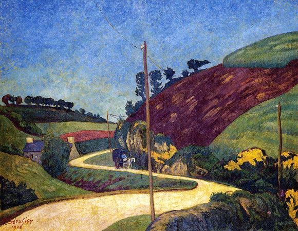 Paul Serusier The Stagecoach Road in the Country with a Cart - Canvas Art Print
