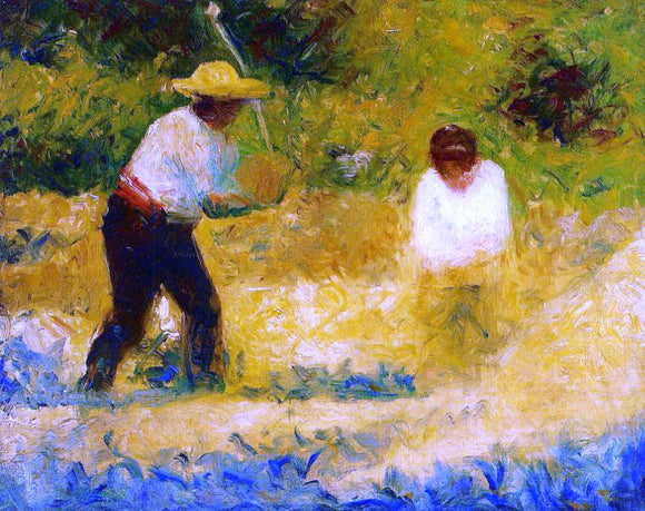 Georges Seurat The Stone Breaker - Canvas Art Print