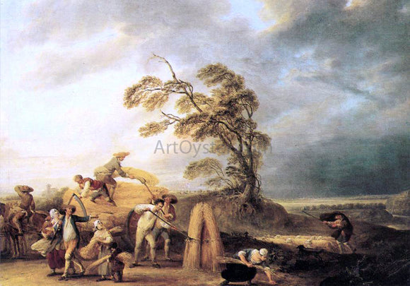 Louis-Joseph Watteau The Storm - Canvas Art Print