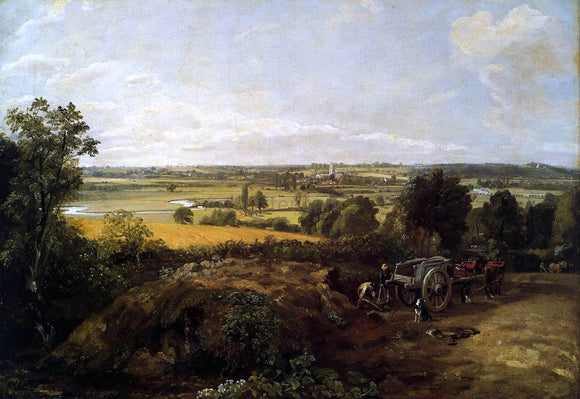 John Constable The Stour-Valley with the Church of Dedham - Canvas Art Print