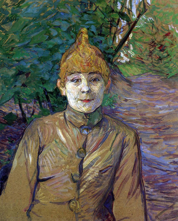 Henri De Toulouse-Lautrec The Streetwalker (also known as Casque d'Or) - Canvas Art Print