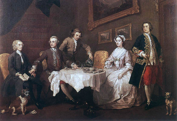 William Hogarth The Strode Family - Canvas Art Print
