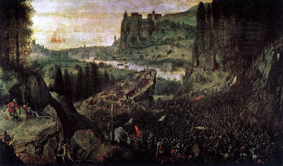 The Elder Pieter Bruegel The Suicide of Saul - Canvas Art Print