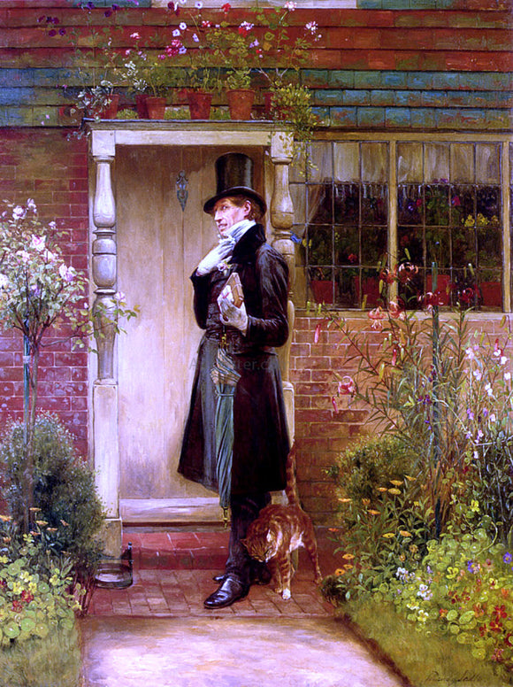 Walter Dendy Sadler The Suitor - Canvas Art Print