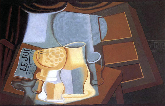Juan Gris The Table in Front of the Window - Canvas Art Print
