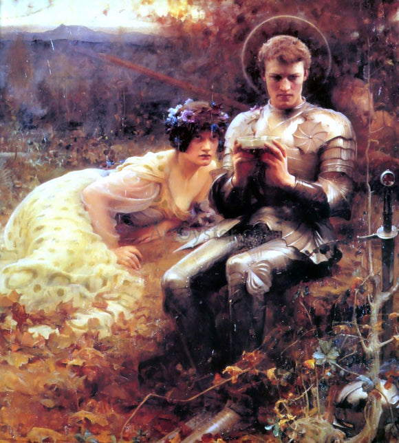 Arthur Hacker The Temptation of Sir Percival - Canvas Art Print