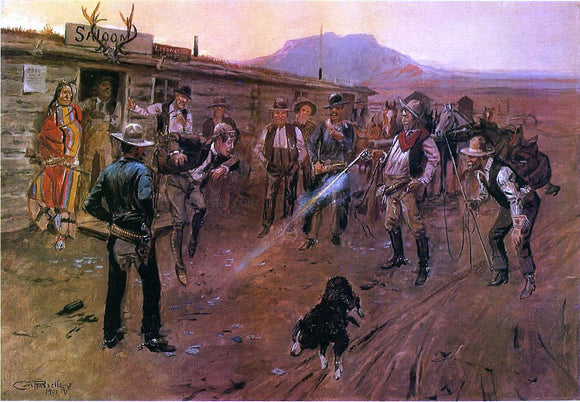 Charles Marion Russell The Tenderfoot - Canvas Art Print