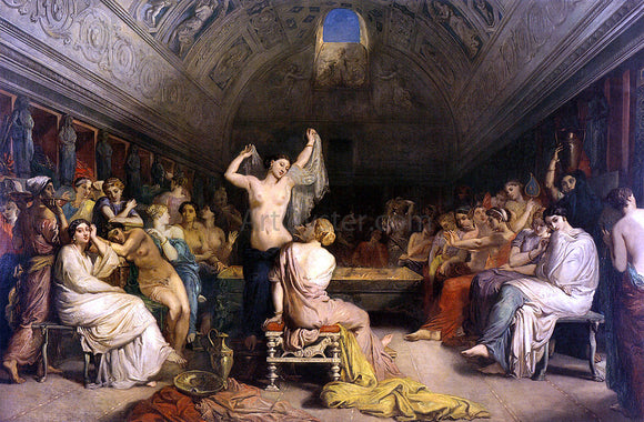 Theodore Chasseriau The Tepidarium - Canvas Art Print