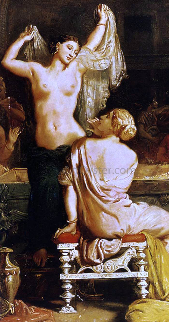 Theodore Chasseriau The Tepidarium (detail) - Canvas Art Print