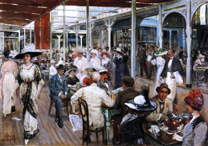 Eugenio Alvarez Dumont The Terrace Cafe, Mar del Plata, Argentina - Canvas Art Print