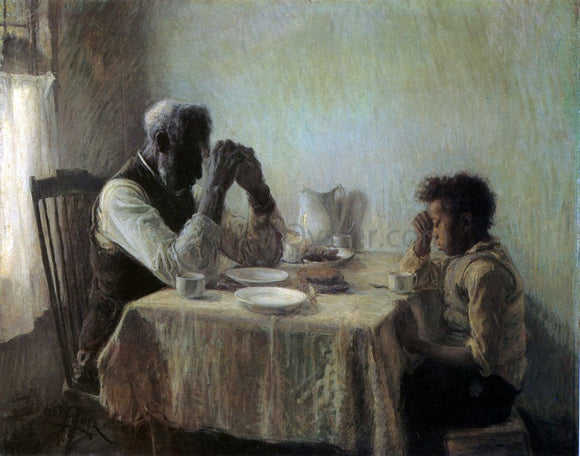 Henry Ossawa Tanner The Thankful Poor - Canvas Art Print
