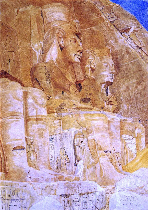 Henry Roderick Newman The Third and Fourth Figures at Abu Simbel - Canvas Art Print