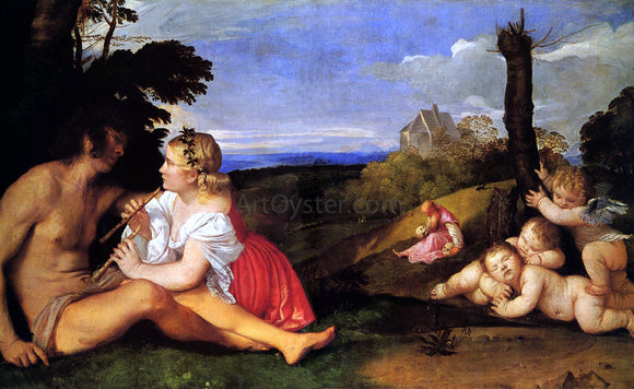 Titian The Three Ages of Man - Canvas Art Print