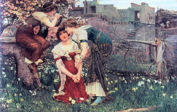 Edward Matthew Hale The Three Princesses - Canvas Art Print