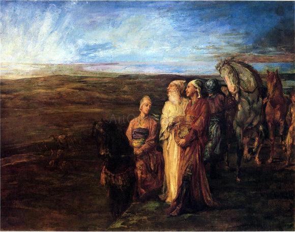 John La Farge The Three Wise Men (also known as Halt of the Wise Men) - Canvas Art Print