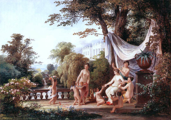 The Elder Karoly Marko The Toilet of Venus - Canvas Art Print