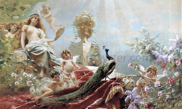 Konstantin Makovsky The Toilet of Venus - Canvas Art Print