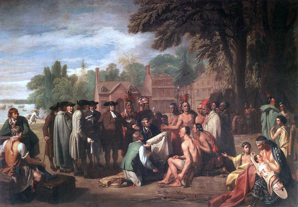 Benjamin West The Treaty of Penn with the Indians - Canvas Art Print