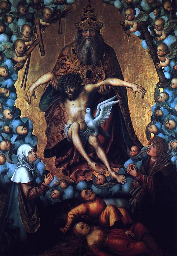 The Elder Lucas Cranach The Trinity - Canvas Art Print