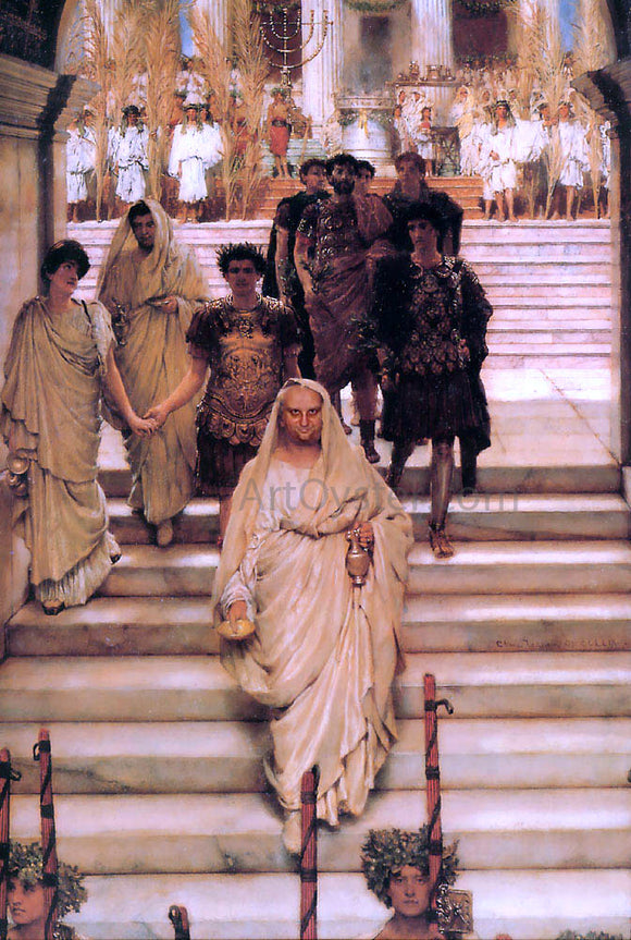 Sir Lawrence Alma-Tadema The Triumph of Titus - Canvas Art Print