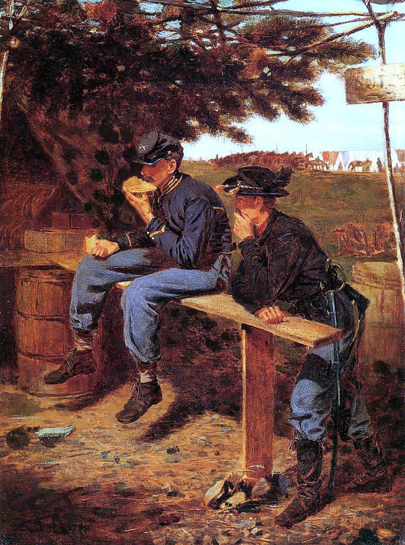 Winslow Homer The Tutler's Tent (also known as Extra Rations) - Canvas Art Print