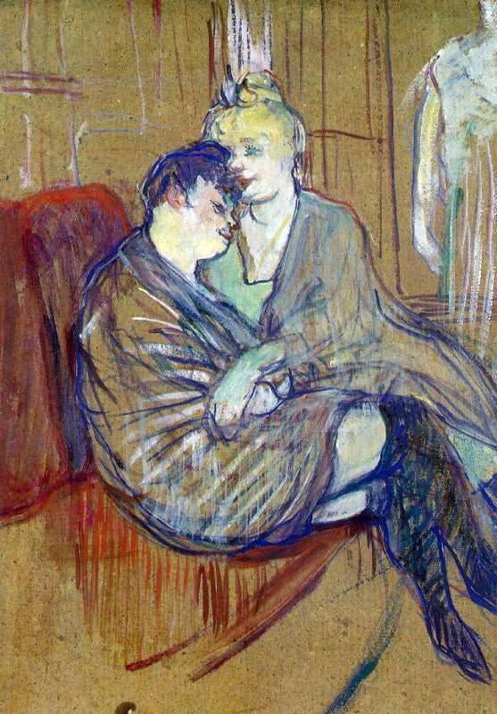 Henri De Toulouse-Lautrec The Two Girlfriends - Canvas Art Print
