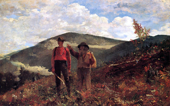 Winslow Homer The Two Guides - Canvas Art Print