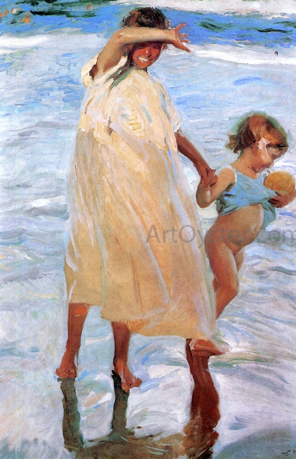 Joaquin Sorolla Y Bastida The Two Sisters - Canvas Art Print