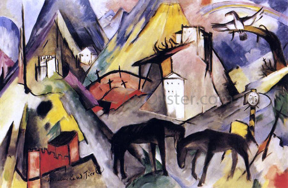 Franz Marc The Unfortunte Land of Tyrol - Canvas Art Print