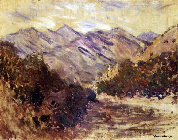 Claude Oscar Monet The Valley of the Nervia with Dolceacqua - Canvas Art Print