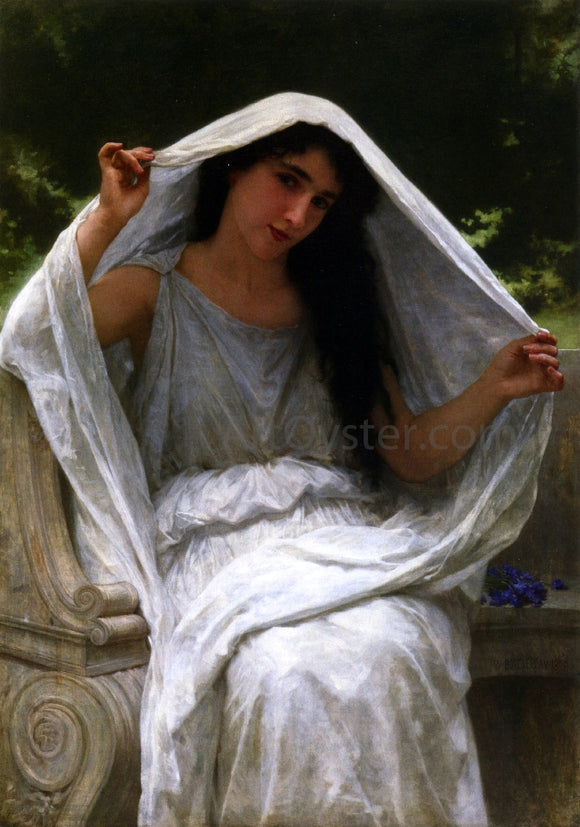 William Adolphe Bouguereau The Veil - Canvas Art Print