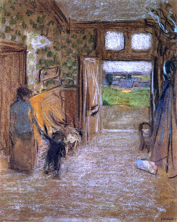 Edouard Vuillard The Vestibule at Saint-Jacut-de-la-mer - Canvas Art Print