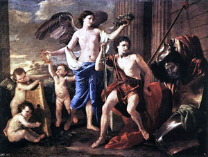Nicolas Poussin The Victorious David - Canvas Art Print