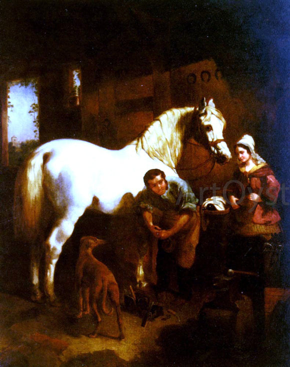 Sr. John Frederick Herring The Village Blacksmith - Canvas Art Print