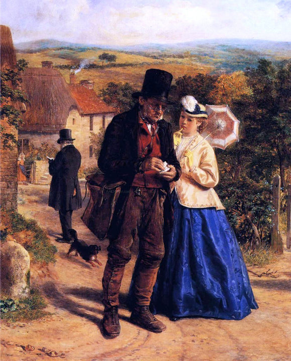 William Hemsley The Village Postman - Canvas Art Print