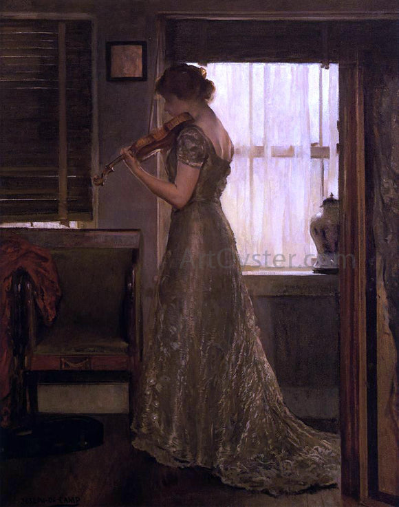 Joseph DeCamp The Violinist (also known as The Violin: Girl with a Violin III) - Canvas Art Print