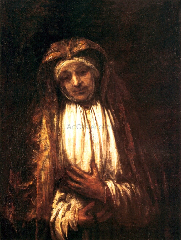 Rembrandt Van Rijn The Virgin of Sorrows - Canvas Art Print
