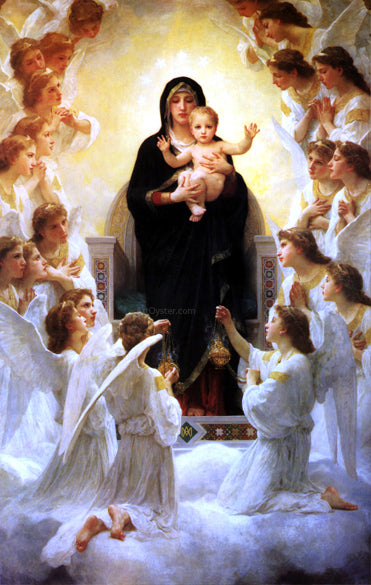 William Adolphe Bouguereau The Virgin With Angels - Canvas Art Print