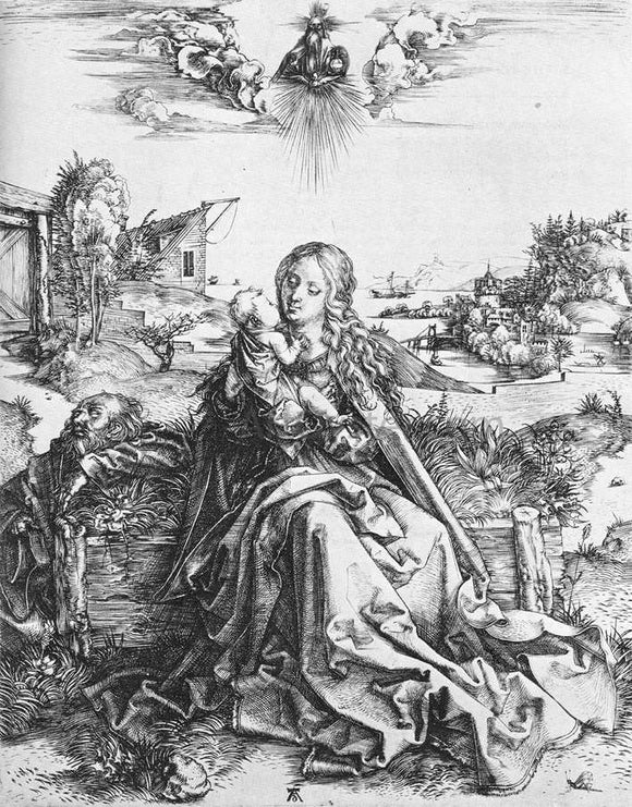 Albrecht Durer The Virgin with the Dragonfly - Canvas Art Print