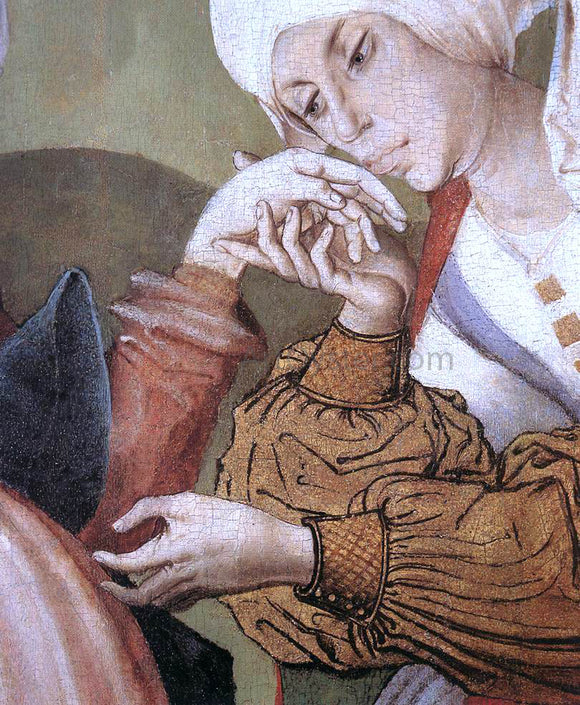 Master M S The Visitation (detail) - Canvas Art Print