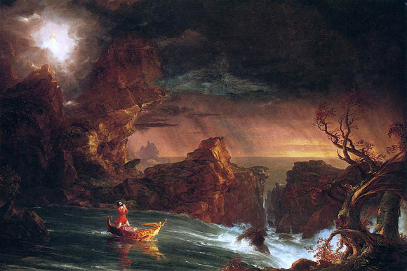 Thomas Cole The Voyage of Life: Manhood - Canvas Art Print